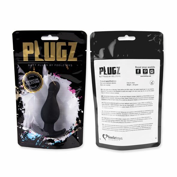 Butt-plug-Plugz-Nr.-2-nero-FeelzToys-confezione