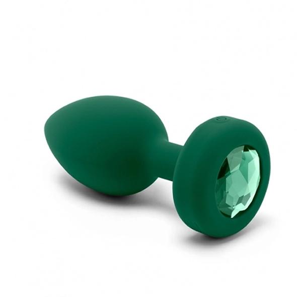 Plug-gioiello-vibrante-misura-ML-b-Vibe-verde-smeraldo